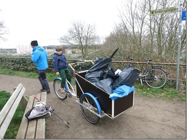 Mülltransport mit dem Lastenfahrrad